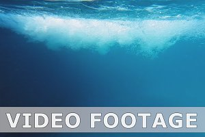 Bubbles in swimming pool underwater slow motion
