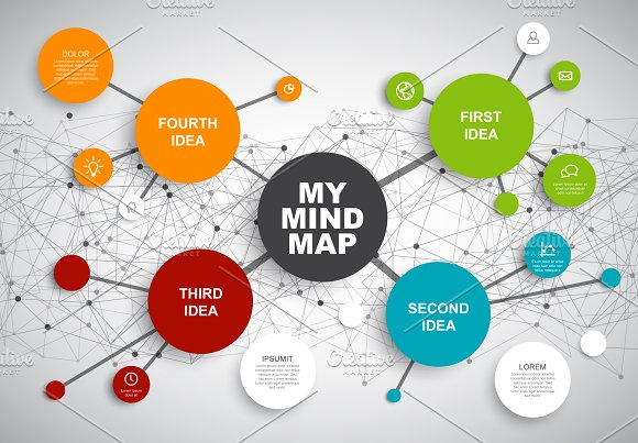mindmap vector template presentation templates creative market