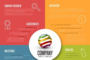 Company profile template ~ Presentation Templates ~ Creative Market