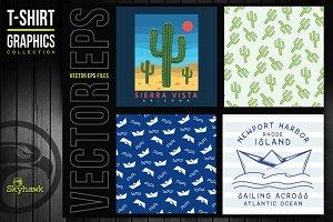 Vectors graphics fort t-shirt print