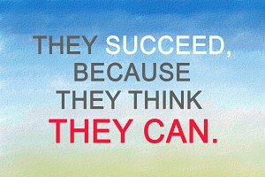 Success, inspirational quotation