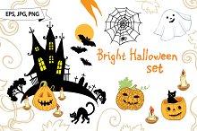 Bright Halloween set