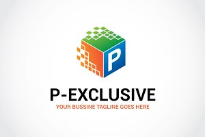P-exclusive Logo Template