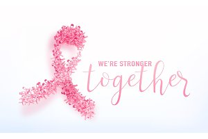 Vector illustration of breast cancer awareness background
