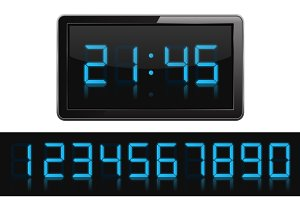 Digital Clock and Numbers
