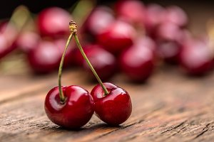 Ripe sour cherry