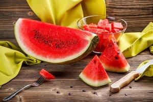 Still life of watermelon