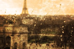 Crying Paris. Autumn rain.