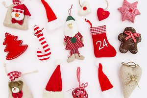 Christmas decoration red toys