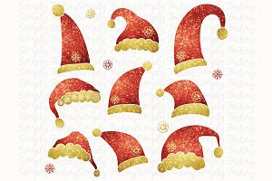 Glitter Santa Hat Collections