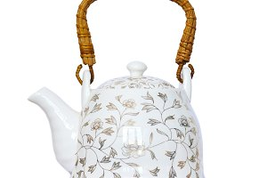 Chinese porcelain teapot.