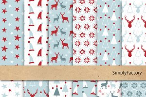 Nordic Christmas Digital Paper Set