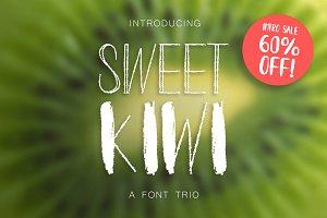 INTRO SALE 60% OFF! Kiwy: font trio