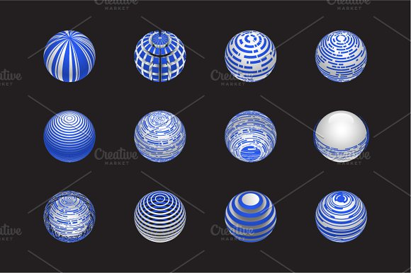 Sphere Logo Set 4 in Objects - product preview 4