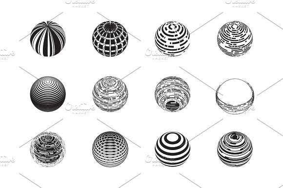 Sphere Logo Set 4 in Objects - product preview 5
