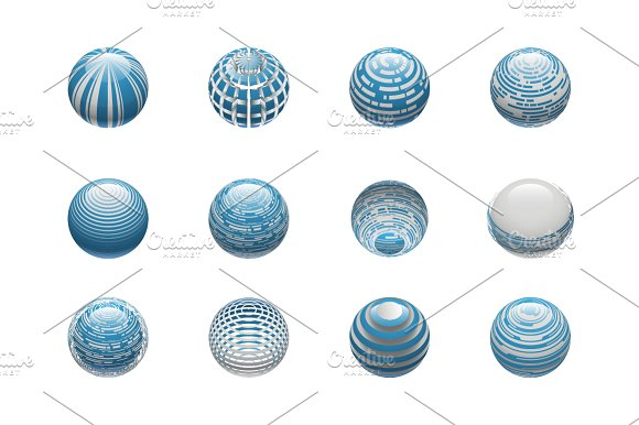 Sphere Logo Set 4 in Objects - product preview 2