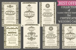 Set of 7 Vintage Templates