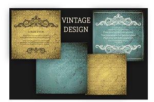 Set of Vintage Grunge backgrounds &