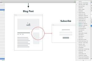 Sketch Sitemap + User Flow Template