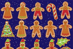 Gingerbread Man Clipart & Vectors
