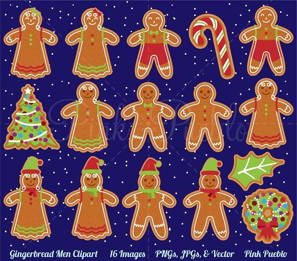 Gingerbread man clipart vectors illustrations creative market gingerbread man clipart vectors illustrations voltagebd Image collections