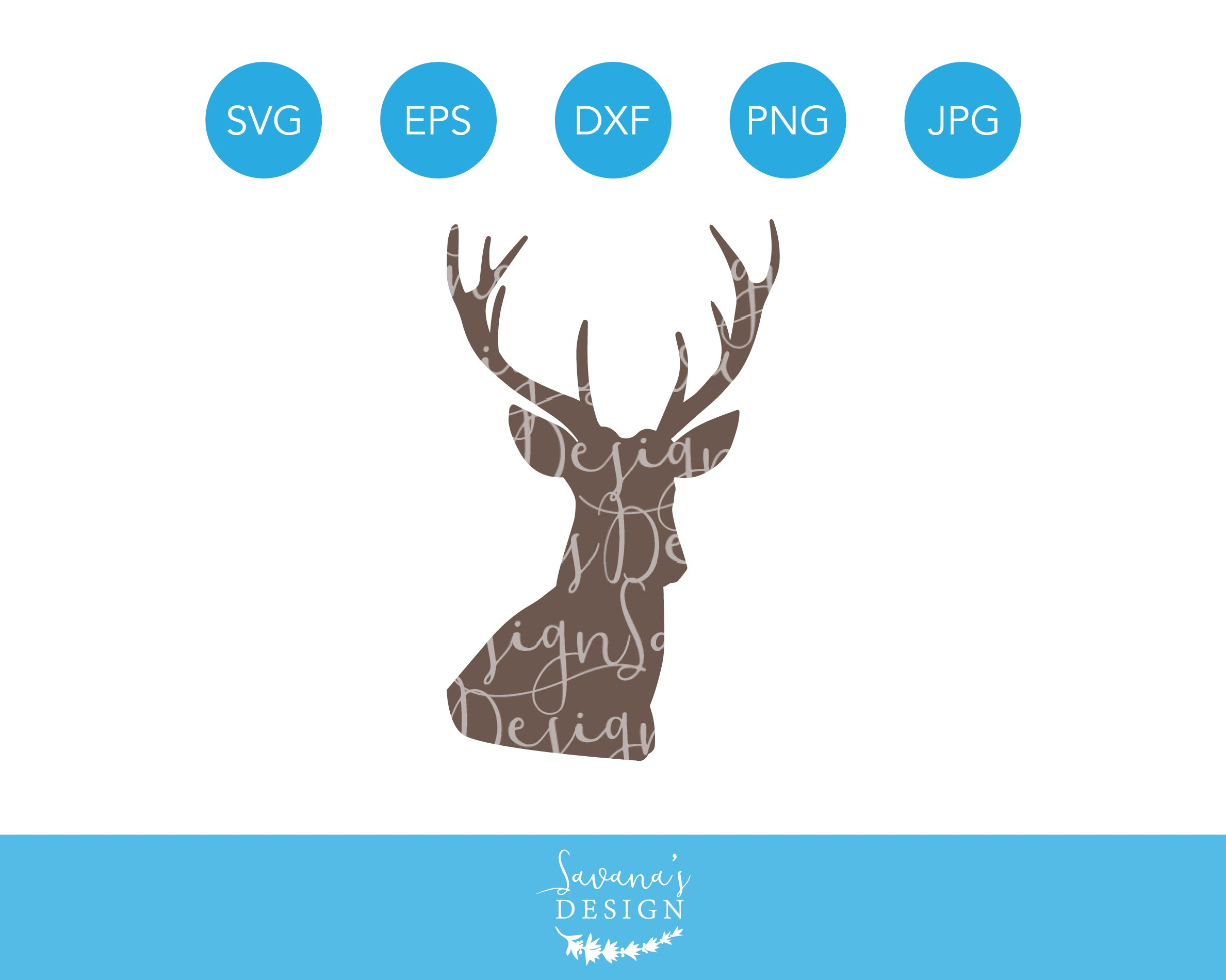 Download Deer Head SVG for Cricut Silhouette ~ Illustrations ...