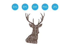 Deer Head SVG for Cricut Silhouette