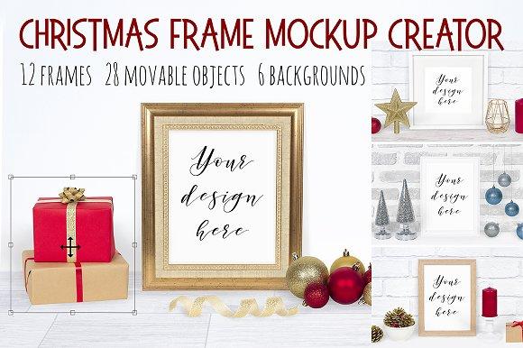 Christmas Frame Mockup Creator ~ Product Mockups ~ Creative Market