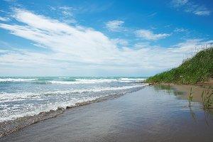 Sandy seacoast