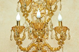 Golden wall sconces