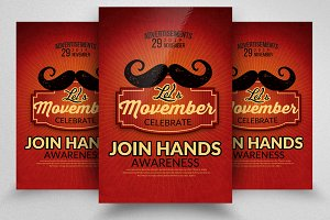 Mustache Movember Flyers