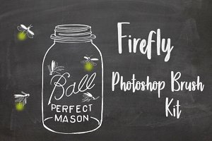 Firefly Mason Jar Photoshop Brushes