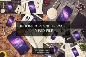 iPhone X 10 PSD Pack