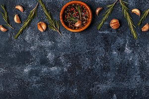 Dark food background
