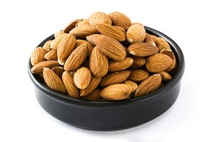 Almonds isolated