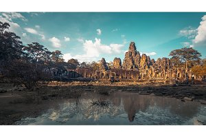 Angkor Wat Temple - Cambodia. Ancient architecture