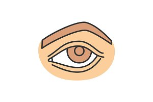 Woman's eye color icon