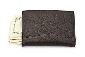 Money in a black wallet