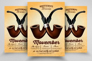 Grow Your Mustache Movember Flyer
