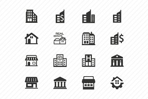 Building Icons- Gray Version