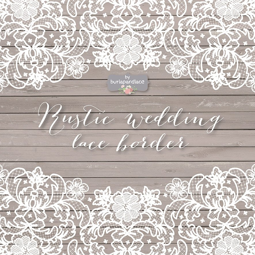 Vector Lace Wedding Border Clipart Illustrations Creative Market