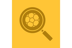 Football game search glyph color icon
