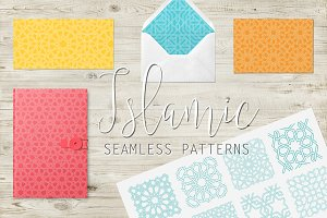 Islamic interlaced seamless pattern
