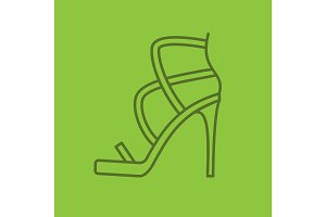 High heel shoe linear icon