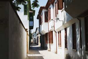 Narrow streets in Cyprus