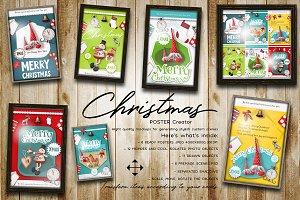 Christmas Posters Creator PSD