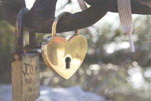 Heart and padlock