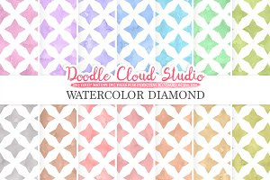 Watercolor Diamond digital paper