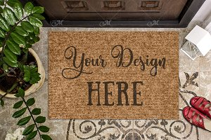 Doormat Mock-up. PSD+JPG