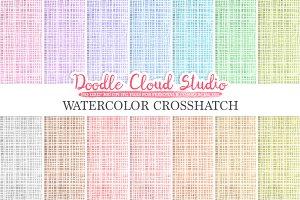 Watercolor Crosshatch digital paper